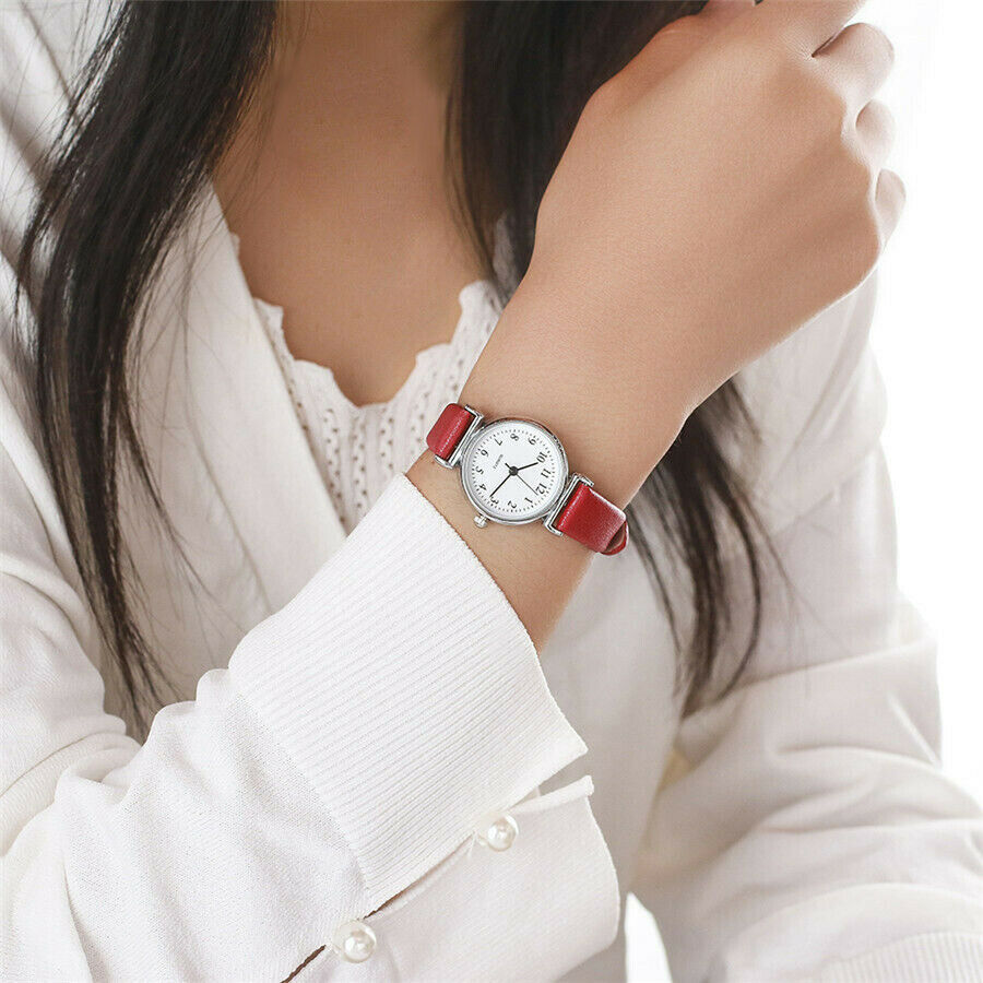 Classic Women's Watches Casual Quartz Leather Strap Band Watch Round Analog Clock Wrist Watches 4