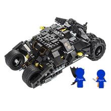 Super heros Batmobile Car Batman Chariot Clown Dark Knight Joker Building Blocks Model kit Brick Educational Toys for Children цена и фото