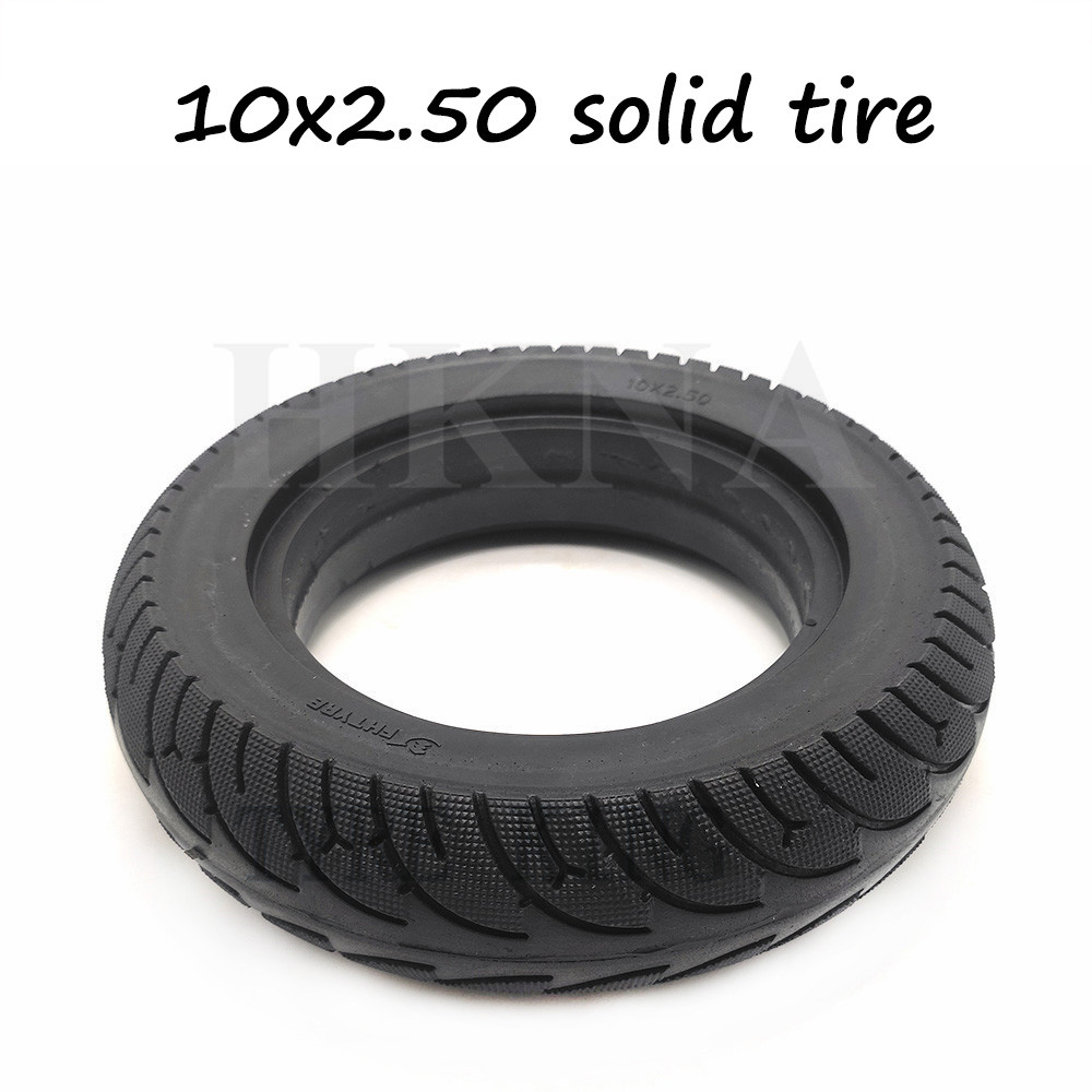 10 Inch Electric Scooter Solid Tires 10x2.50 Tubeless Wheel Tyres Non-Inflation Tire for Electric Scooter Balance Tyre Parts