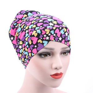 Image 4 - New Arrival Muslim Turban Chemotherapy Hat Back Disc The Head Cap Cotton Floral Print Inner Hijabs Bandage Headwear For Women