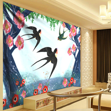 Anime Psychedelic Tapestry Forest Flying Swallow Mandala Wall Hanging Boho Decor Hippie Succulent Cactus Art Cool