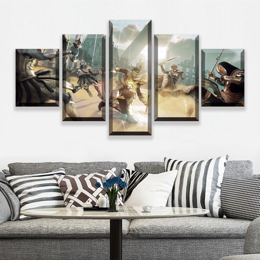 5 Pieces Movie Poster Canvas Wall Art Assassins Creed Painting Abstract Art Picture Game Posters Prints Quadros Decoracao image