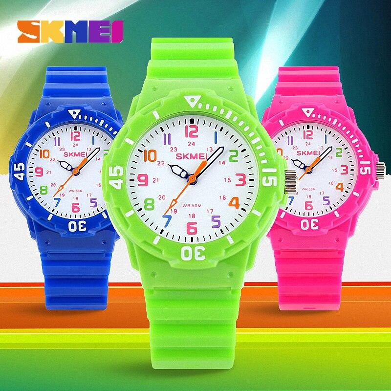 Relógios de Pulso 5bar à Prova Skmei Moda Casual Crianças Relógios Dwaterproof Água Quartzo Jelly Relógio Montre Enfant 1043