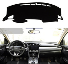 SJ Car Inner Auto Dashboard Cover Dashmat Pad Carpet Sun Shade Dash Board Cover Fit For HONDA Civic 2016 2017 2018(China)
