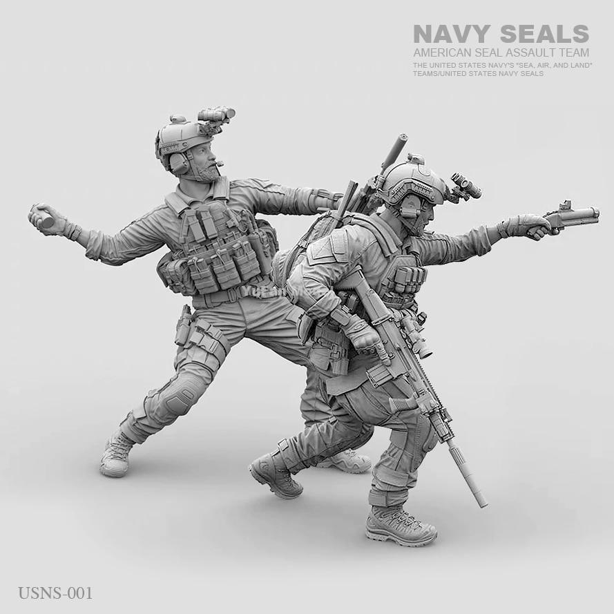 1/35 Resin Figure Model Kit Modern US NAVY SEALS Soldiers (2pcs/lot) Unpainted