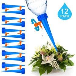 12 sztuk roślina ogrodowa dozownik do wody automatyczne nawadnianie System do paznokci regulowany przepływ wody nawadniania kropelkowego sprzęt do podlewania