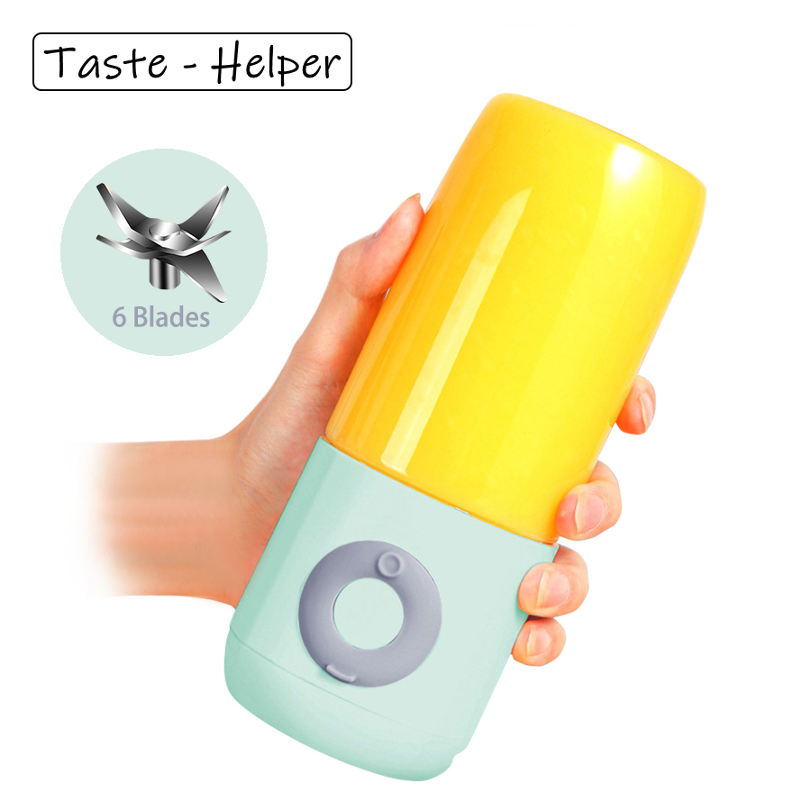 Handheld Blender Portable Juicer 6 Blades Mixer Chargeable Electric Kitchen Food Processor 500mL Quick Juicing Fruit Cup