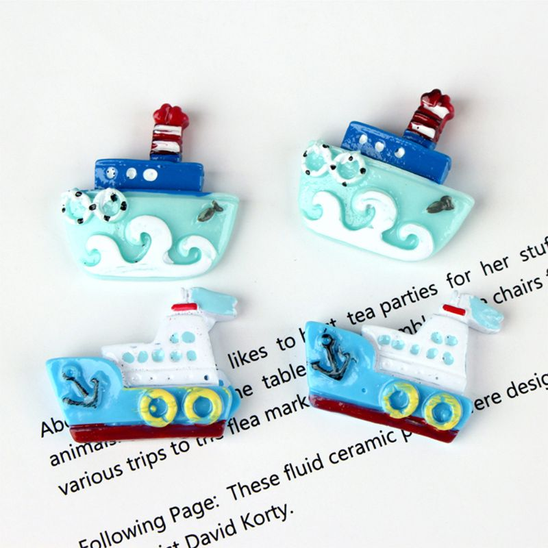 2020 New 50Pcs Ocean Style Flatback Resin Cabochon Enamel Ship Steamer Boat DIY Scrapbook