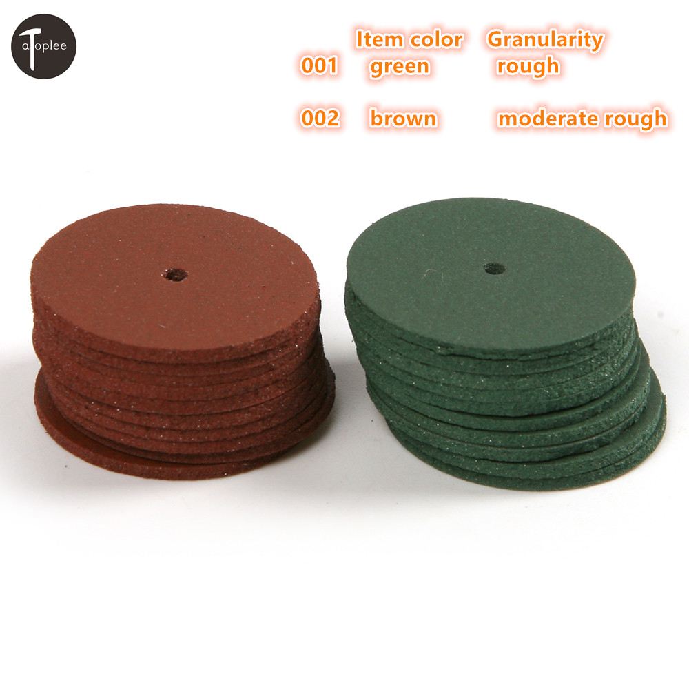 10PCS Rough/Moderate Rough Polishing Wheel Rubber Grinding Wheel For Metal Alloy Jewelry Mini Ultra-thin Rotary Dremel Tools