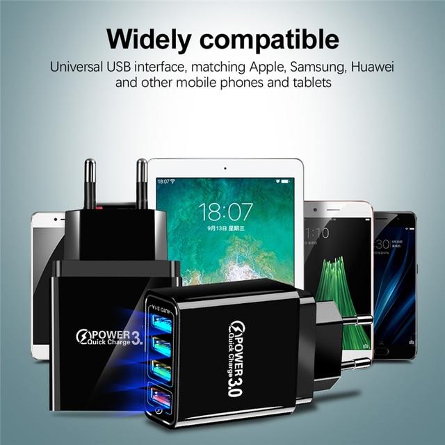 Lovebay 48W Caricabatterie Rapido 3.0 del Caricatore del USB Per il iphone Samsung Tablet UE Spina DEGLI STATI UNITI Della Parete Adattatore Del Caricatore Del Telefono Mobile ricarica veloce 5