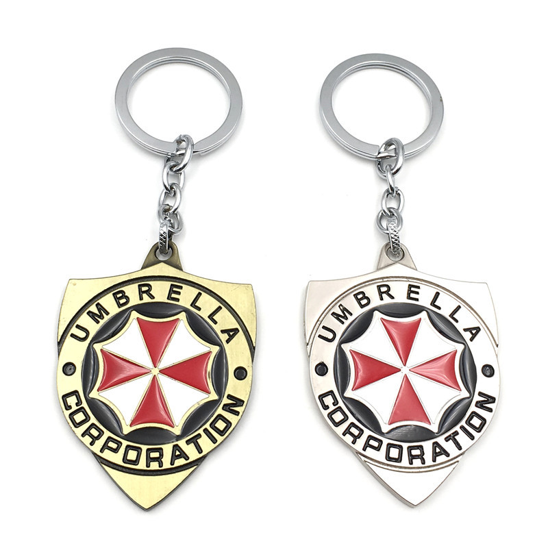 New Style Movie Related Products Resident Evil Umbrella Logo Keychain Pendant Wholesale