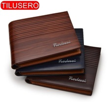Vintage Men Leather Wallet Short Slim Male Purses Money Credit Card Holders Men Wallet Money Bag T002