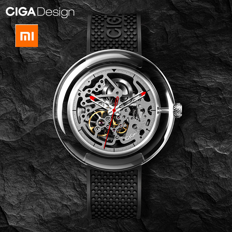 Original Xiaomi mijia CIGA Design T Men /women Automatic Mechanical Watch Full Hollow Stainless Steel Wrist Watch|Smart Remote Control| |  - title=