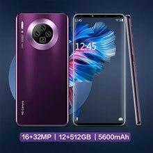 2021 hawei mate 40 5g smartphone 6.3 polegada telefone celular, telefone smartphone com cartão sim duplo 12gb ram + 512gb rom
