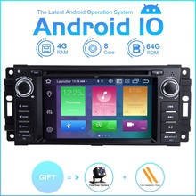 ZLTOOPAI רכב מולטימדיה נגן אנדרואיד 10.0 עבור דודג Ram המתמודד ג יפ רנגלר JK רכב אוטומטי רדיו סטריאו DVD נגן SWC