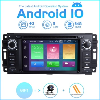 ZLTOOPAI Car Multimedia Player Android 10.0 For Dodge Ram Challenger Jeep Wrangler JK Car GPS Auto Radio Stereo DVD Player SWC lsqstar 8 capacitive screen android car dvd player w gps wi fi 1gb ram 8gb flash for vw