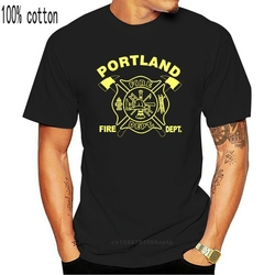 New Portland Fire Department Fire and Rescue Firefighter Custom T-Shirt Double Side 2019 Print Cotton Slim Fit O-Neck Casual Top