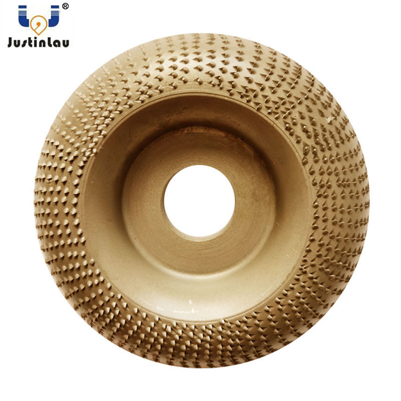 JUSTINLAU Wood Angle Grinding Wheel Sanding Carving Rotary Abrasive Disc Angle Grinder Tungsten Carbide Coating Bore Shaping