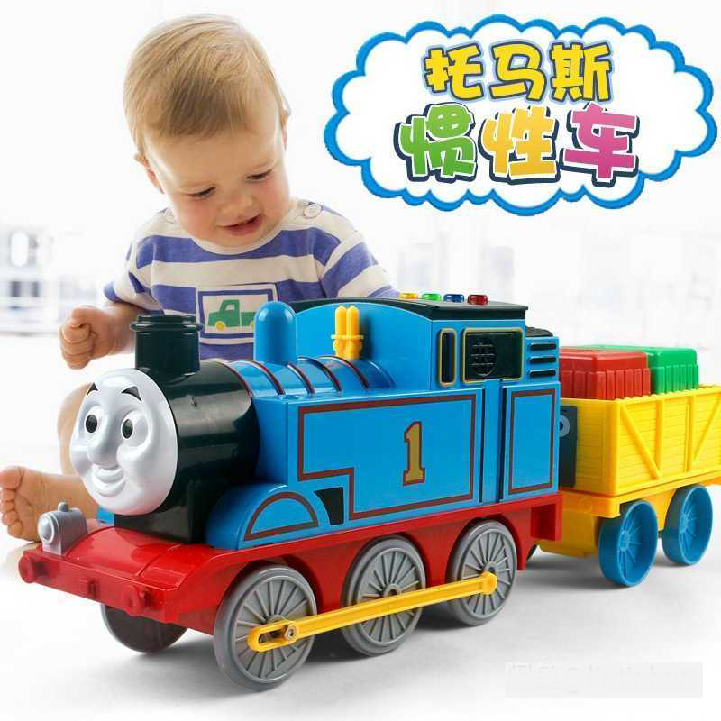 Set Thomas Early Education Toy Gift Large Thomas Combination Set Car Thomas Train Trailer