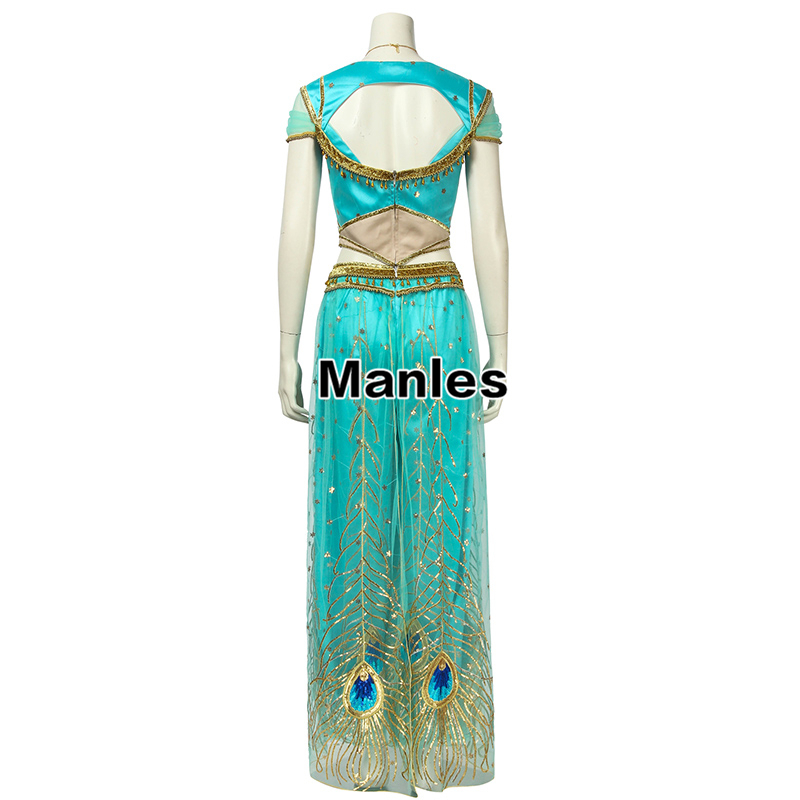 Image 2 - Aladdin Film Cosplay Costume Jasmine Adult Lamp Princess Fancy Dress Custom Made Halloween Costumes For Women Girls Carnival-in Movie & TV costumes from Novelty & Special Use