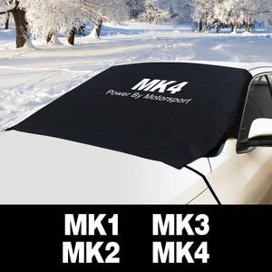 Image 1 - Auto Windschutzscheibe Schnee Eis Staub Block Wasserdichte Sonnenschutz Protector Abdeckung Für Ford Focus MK1 MK2 MK3 MK4 2 3 1 4 Auto Zubehör
