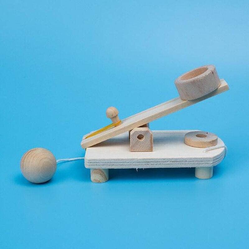DIY Trebuchet Educational Science Assembly Building Blocks Toys Wooden Catapult Model Kit For Children Physics Experiment Games