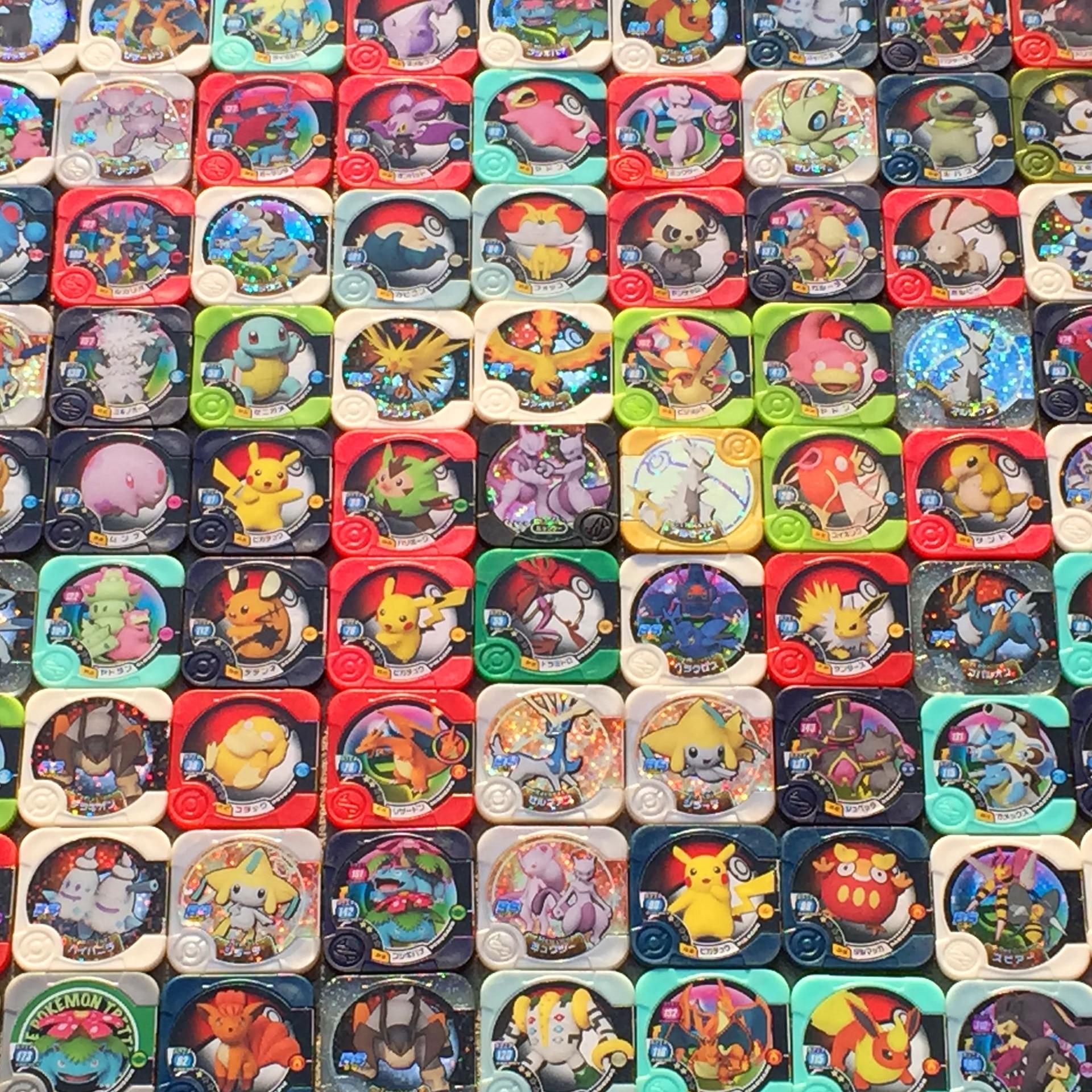 Покемон TAKARA TOMY оригинальный 200 Стили TRETTA черного и золотого цвета игрушки хобби Коллекционные вещи игра Коллекция аниме открытки для детей