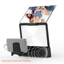 Newest 8In Screen Magnifier 3D Smart Phone Movies Amplifier with Bluetooth Speaker for All