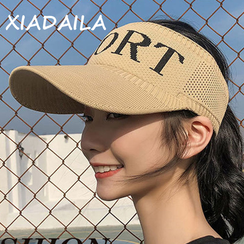 2019 Newest Hot Women Sports Printed Adjustable Cap Sports Sun Summer Breathable Mesh Outdoor Hat Visors