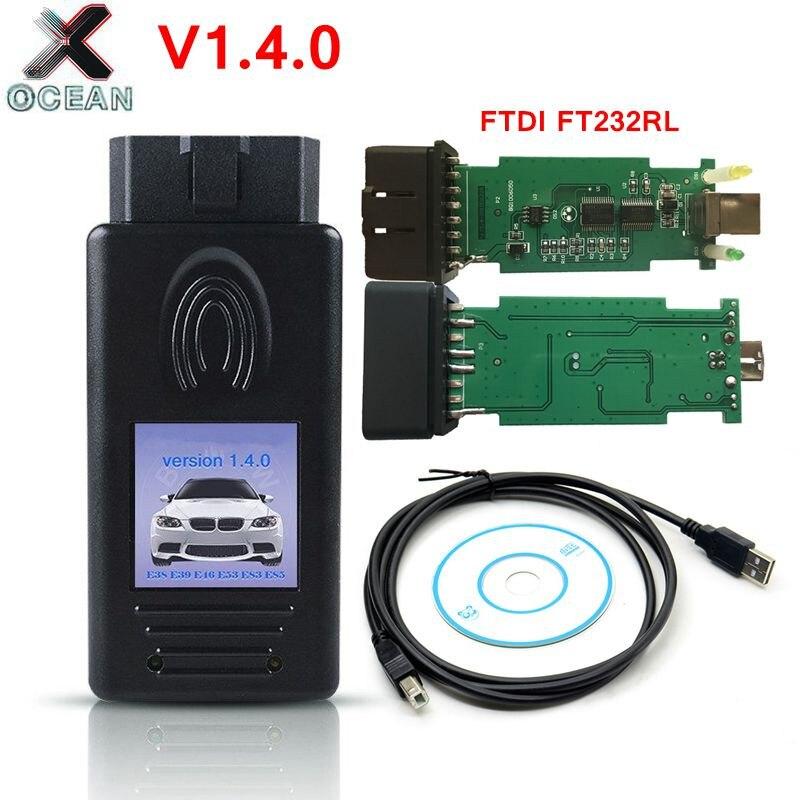Never Locking OBD Fault Code Reader Diagnostic For BMW Scanner 1.4.0 For E35 E39 E46 E53 E83 E85 Code Reader For BMW 1.4.0