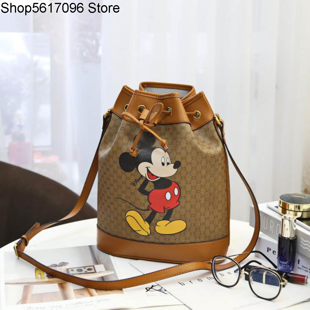 2020 New Style Fashion Printed Drawstring Shoulder Versatile Bucket Bag Fashion Designer Tasche Women's Sports Handbags