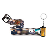 10pcs Photos Film Roll keychain Couple Gifts DIY Photo Text Albums Cover Keyrings Custom Memorial Mother's Day Lover Present