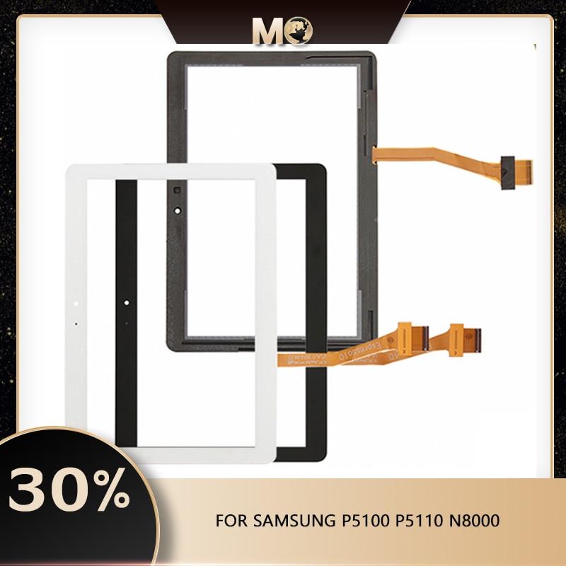 Novo p5100 para samsung galaxy p5100 p5110 n8000 sensor de tela toque painel digitador assembléia vidro frontal