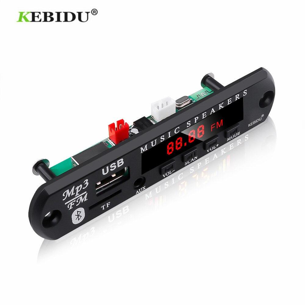 Kebidu 5 v 12 v mp3 wma decodificador placa módulo de áudio usb tf rádio bluetooth5.0 música sem fio carro mp3 player com controle remoto