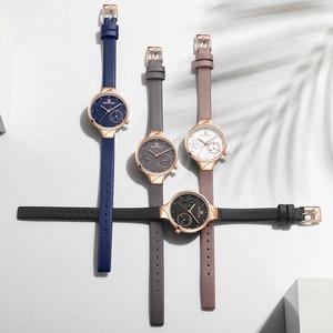 Image 4 - NAVIFORCE Brand Luxury Leather Fashion Watches Women Creative Rose Dial Casual Elegant Lady Quartz Wrist Watch Relogio Feminino