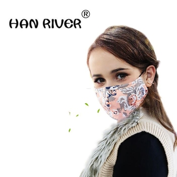 Women Mouth Masks Adjustable Washable Anti dust black Mask Activated Carbon filter Windproof Mouth-muffle bacteria Face Mask