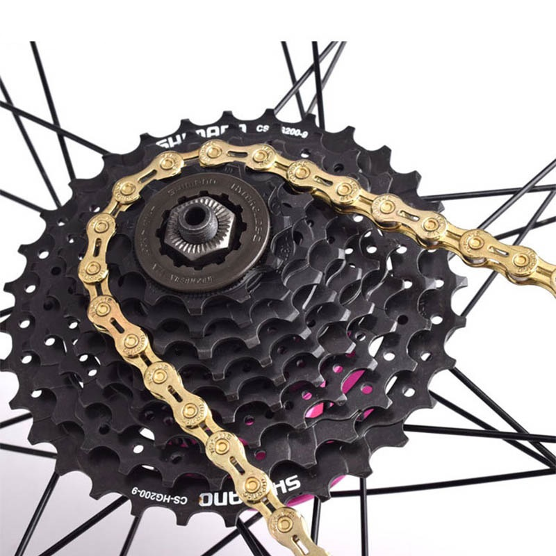 VG Sports 9//10//11 speed Bicycle chain Half hollow Colorf 116Links MTB bike chain