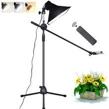 Fotoğraf LED ışık dolgu lamba reflektör Softbox 1.3m zemin standı Tripod braketi kol telefon canlı Video çekim fotoğraf stüdyosu