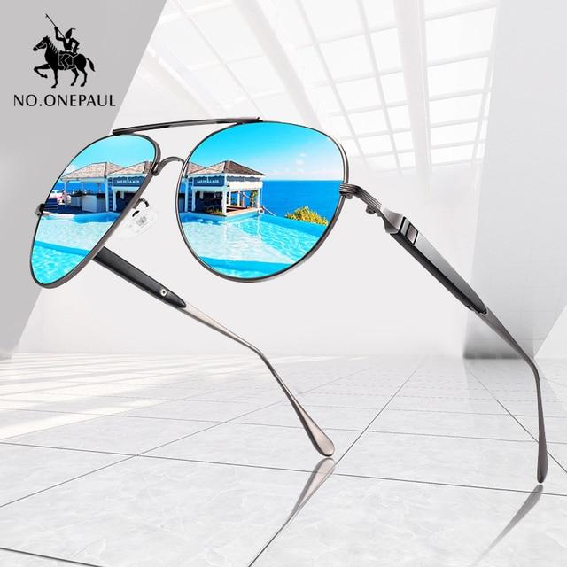 NO.ONEPAUL-lunettes de soleil UV400, verres de soleil carrés polarisés en métal, verres pour la conduite de marque pour hommes, pêche, nouvelle collection 2020