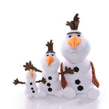 1pcs 15-40cm Snowman Olaf Plush Toys Stuffed Plush Dolls Kawaii Soft Stuffed Animals For Kids Christmas Gifts(China)
