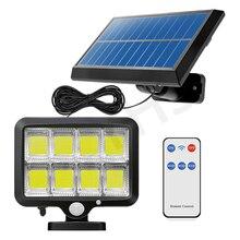 160LED Solar Light Outdoor Garden Wall Night Lighting Lamp Motion Sensor Waterproof Solar Led Light Outdoor 3Modes RemoteControl