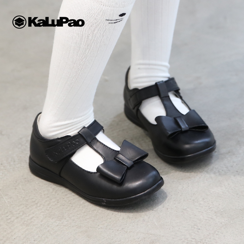 KALUPAO Newest Spring Autumn Princess Girls Shoes Kid Party Dress Shoes Fashion Bowknot Black Leather School Shoes For Children