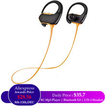 High Quality Hifi Sound 8G Memory Wireless Bluetooth MP3 Player Earphones Headphones For Sports,Running,Gym,Fitness,Audio,Studio(China)