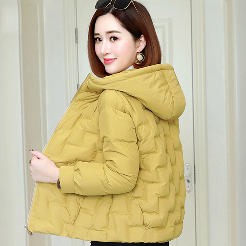 2019 New Fashion Women Winter Hooded Coat Warm Jacket Down Cotton Padded Jacket Female Casual Style Outwear Parkas
