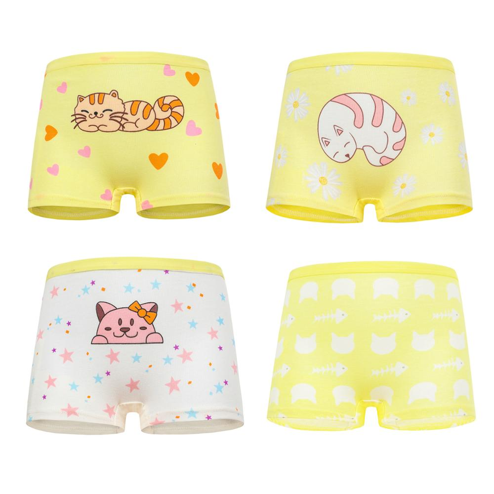 New arrived Girls Underwear Free Shipping Fashion Kids cotton character baby children panties short boxer 4pc  1-7year 4