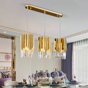 Image 2 - Small Round Gold k9 Crystal Modern Led Chandelier for Living Room Kitchen Dining Room Bedroom Bedside Luxury Indoor Lighting
