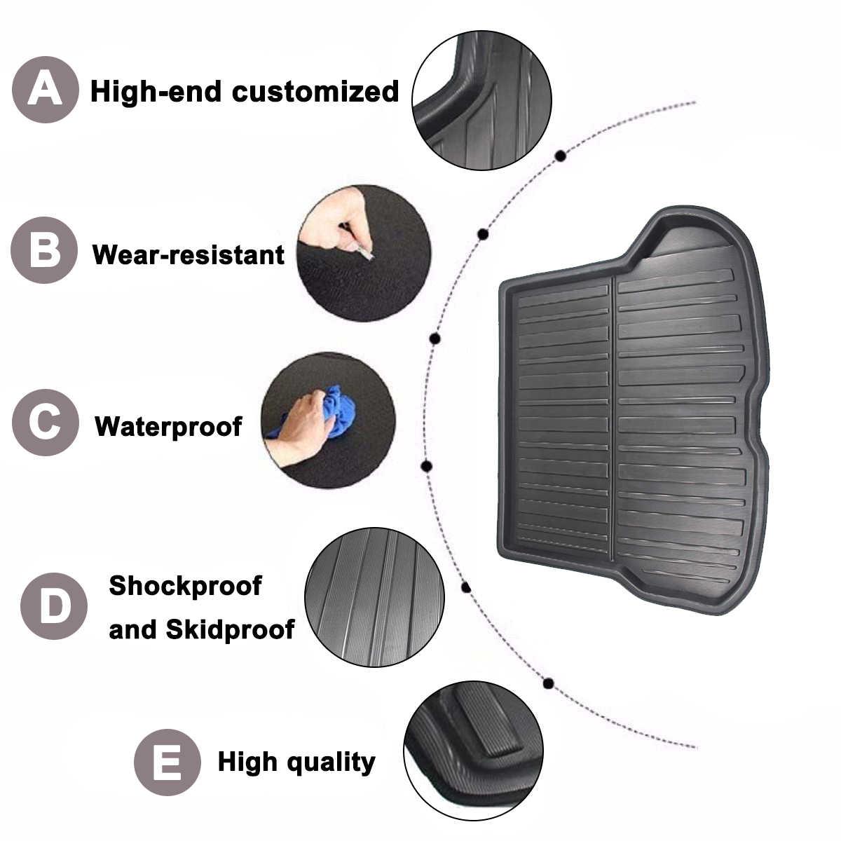 Tylna pokrywa bagażnika matowa mata wkładka do bagażnika dywan na podłogę taca samochodowa wkładka do bagażnika Cargo Mud antypoślizgowa do Volvo XC40 2017-2019 wodoodporna