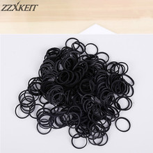 16*1.4mm Black Office Rubber Ring Rubber Bands Strong Elastic Bands Stationery Holder Band Loop School Office Supplies