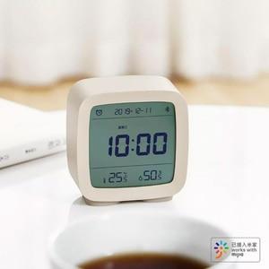 Image 3 - Youpin Qingping Bluetooth Temperatuur Vochtigheid Sensor Nachtlampje Lcd Wekker Voor Mihome App Controle Thermometer