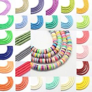 Плоские круглые бусины STENYA 6 мм из полимерной глины, диск с кристаллами, виниловые сережки-распорки, ожерелье, браслет, ювелирные изделия, браслет, Рукоделие, сделай сам